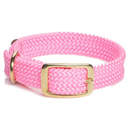 "Mendota Mendota Double-Braid Collar HOT PINK 1""x18"""