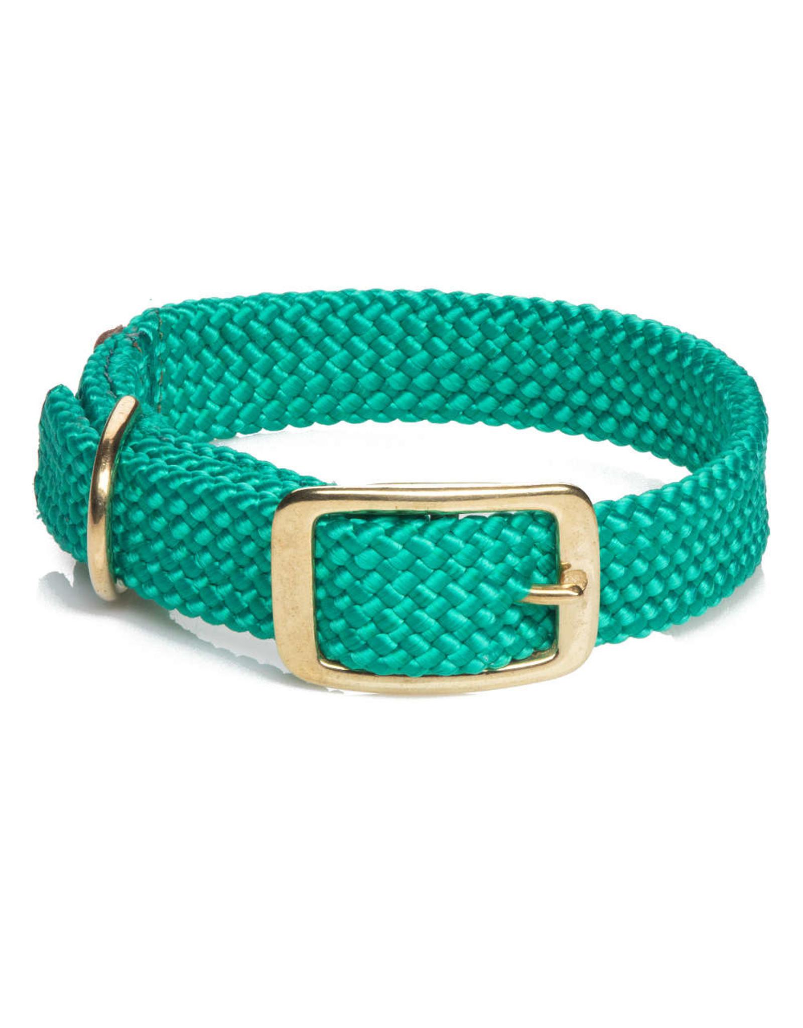 "Mendota Mendota Double-Braid Collar KELLY GREEN 1""x18"""
