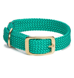"Mendota Mendota Double-Braid Collar KELLY GREEN 1""x18"""