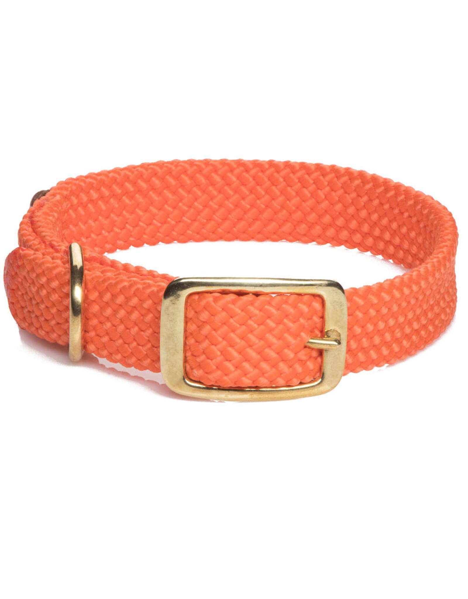 """Mendota Mendota Double-Braid Collar ORANGE 1""""x18"""""""