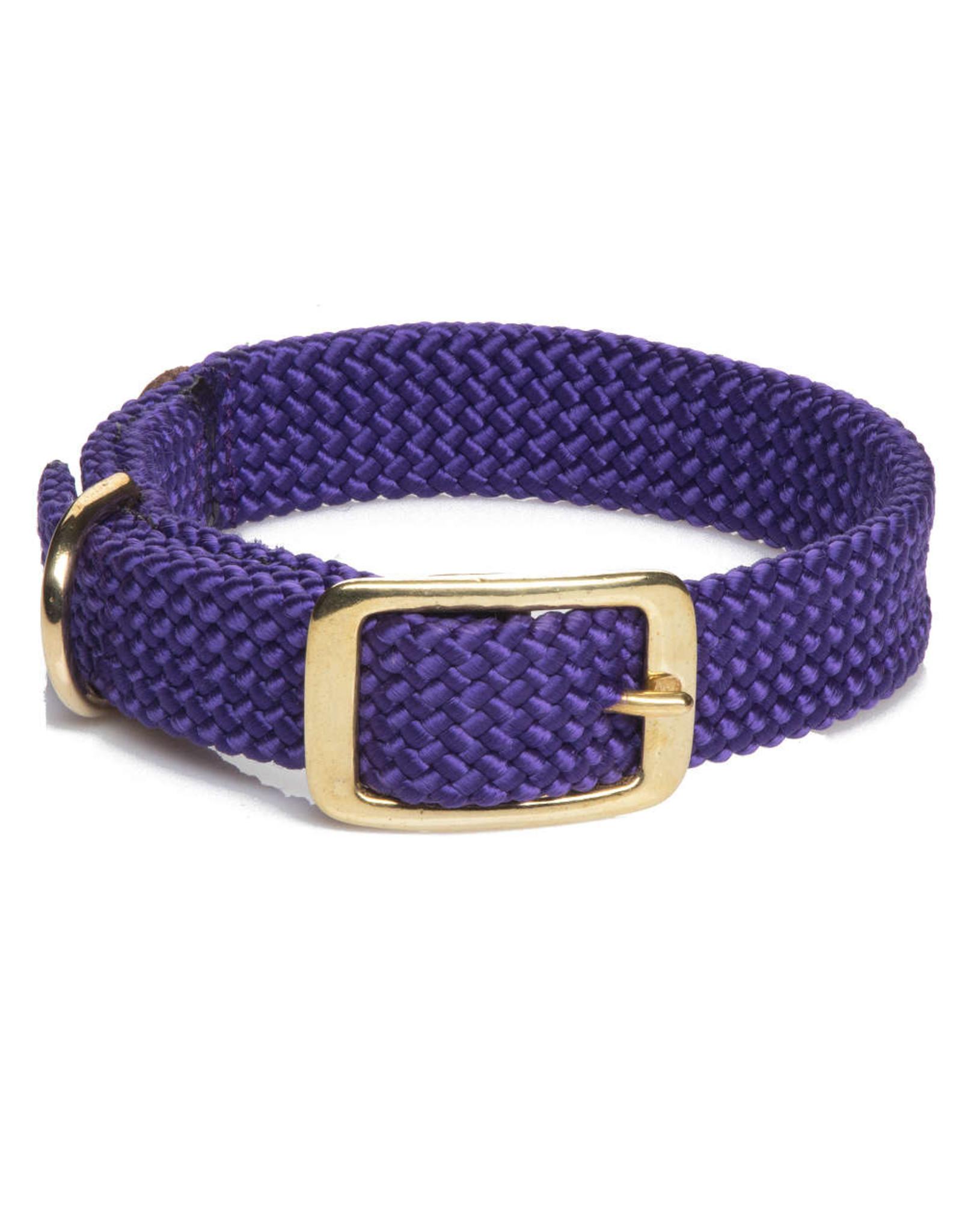 "Mendota Mendota Double-Braid Collar PURPLE 1""x18"""