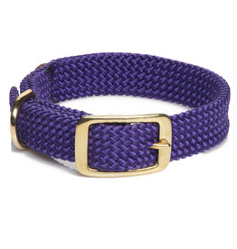 "Mendota Mendota Double-Braid Collar PURPLE 1""x18"""