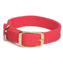 """Mendota Mendota Double-Braid Collar RED 1""""x18"""""""