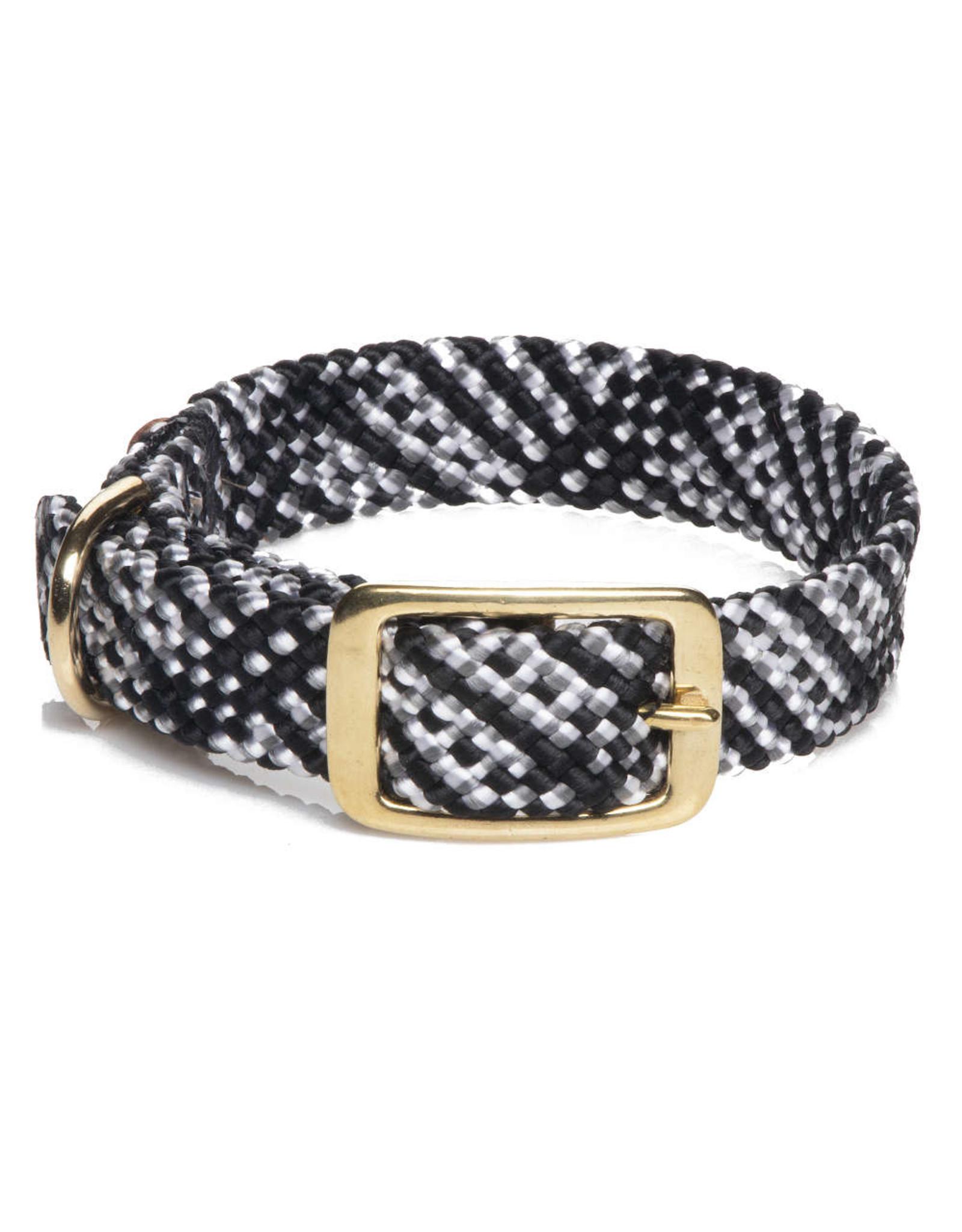 """Mendota Mendota Double-Braid Collar SALT & PEPPER 1""""x18"""""""
