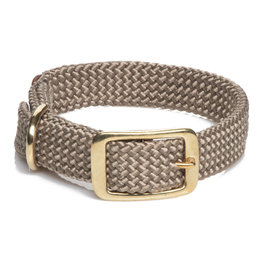 "Mendota Mendota Double-Braid Collar TAN 1""x18"""