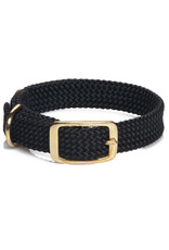 "Mendota Mendota Double-Braid Collar BLACK 1""x24"""