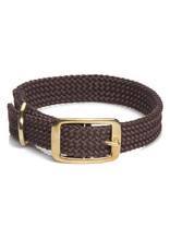"Mendota Mendota Double-Braid Collar DARK BROWN 1""x24"""