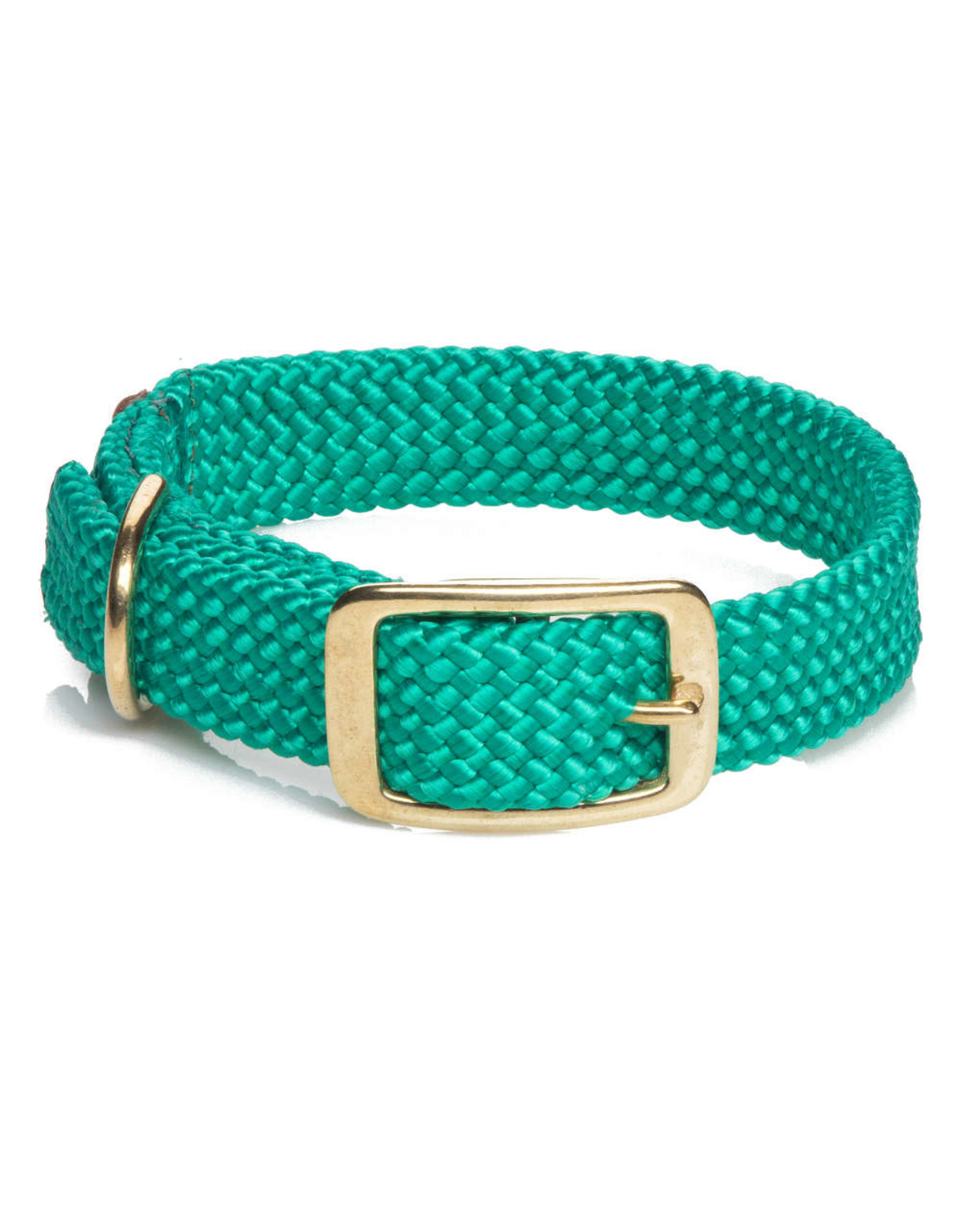 "Mendota Mendota Double-Braid Collar KELLY GREEN 1""x24"""