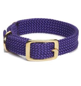 "Mendota Mendota Double-Braid Collar PURPLE 1""x24"""