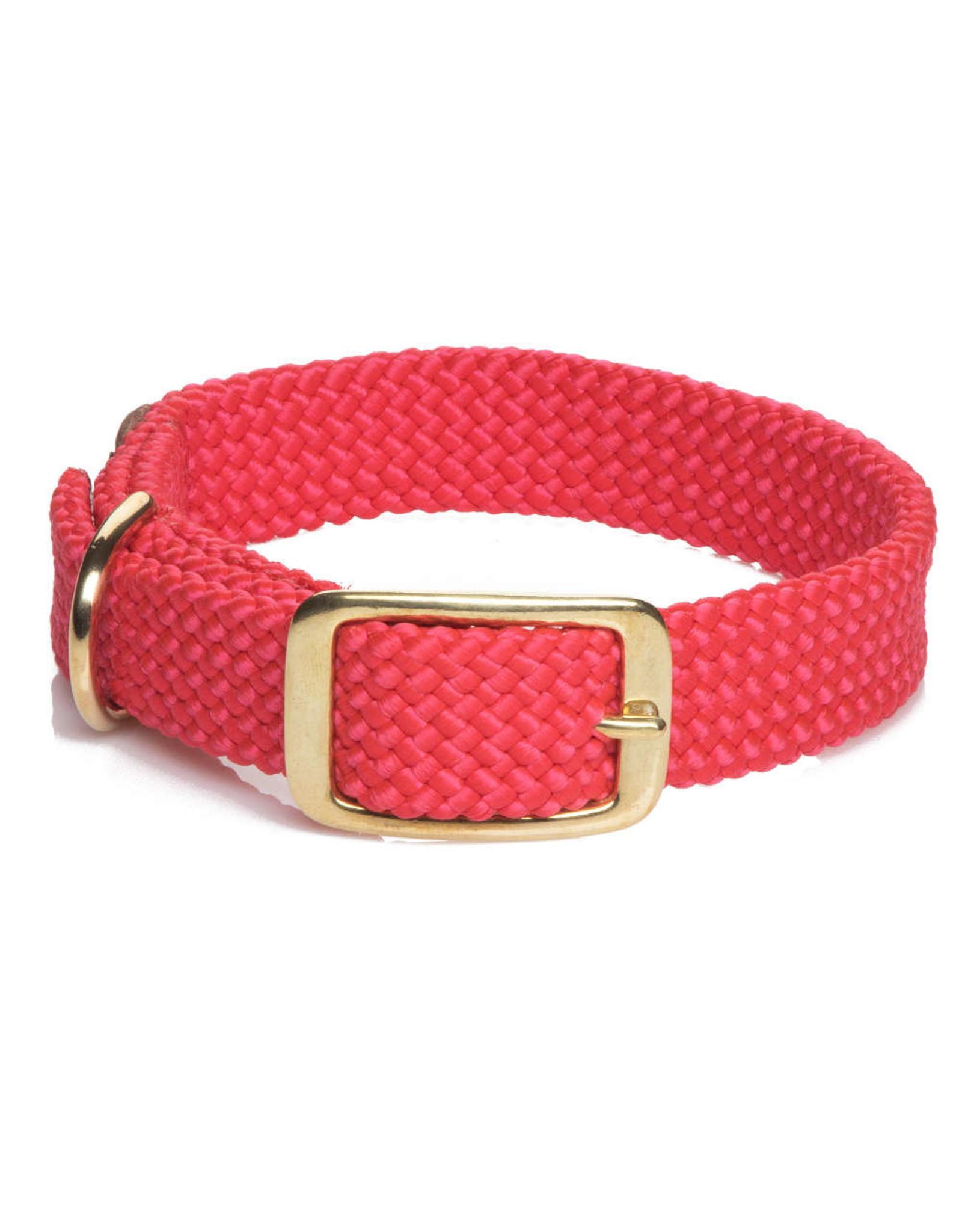 """Mendota Mendota Double-Braid Collar RED 1""""x24"""""""