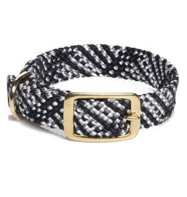 """Mendota Mendota Double-Braid Collar SALT & PEPPER 1""""x24"""""""