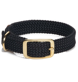 "Mendota Mendota Double-Braid Collar BLACK 1""x21"""