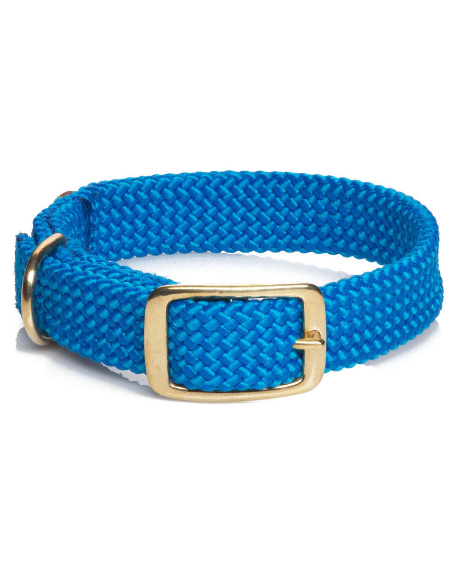 """Mendota Mendota Double-Braid Collar BLUE 1""""x21"""""""