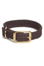"Mendota Mendota Double-Braid Collar DARK BROWN 1""x21"""