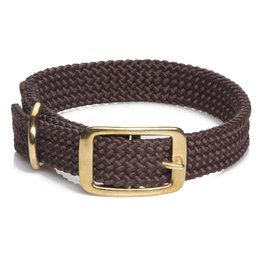 "Mendota Mendota Double-Braid Collar DARK BROWN 1""x21"""