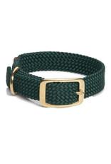 "Mendota Mendota Double-Braid Collar HUNTER GREEN 1""x21"""