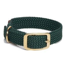 "Mendota Mendota Double-Braid Collar HUNTER GREEN 1""x21"""