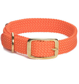 "Mendota Mendota Double-Braid Collar ORANGE 1""x21"""