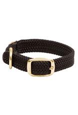 "Mendota Mendota Double-Braid Jr. Collar BLACK 9/16"" x14"""