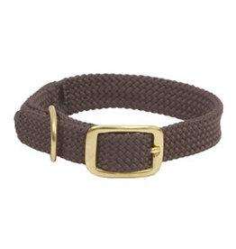 """Mendota Mendota Double-Braid Jr. Collar DARK BROWN 9/16"""" x14"""""""