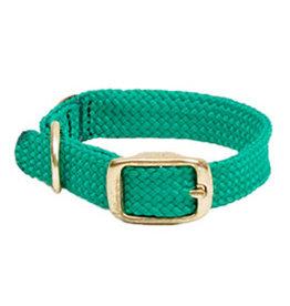 "Mendota Mendota Double-Braid Jr. Collar KELLY GREEN 9/16"" x14"""