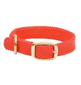 "Mendota Mendota Double-Braid Jr. Collar RED 9/16"" x14"""