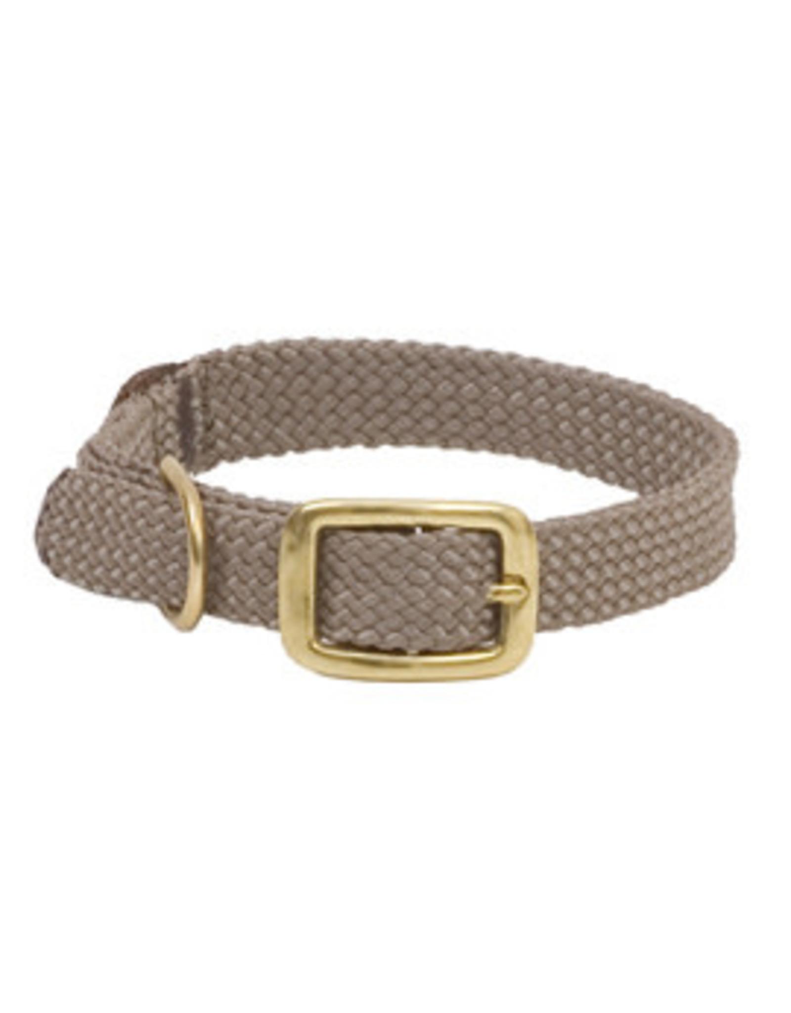 "Mendota Mendota Double-Braid Jr. Collar TAN 9/16"" x14"""