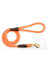 "Mendota Mendota Large Snap Leash ORANGE 1/2"" x6'"