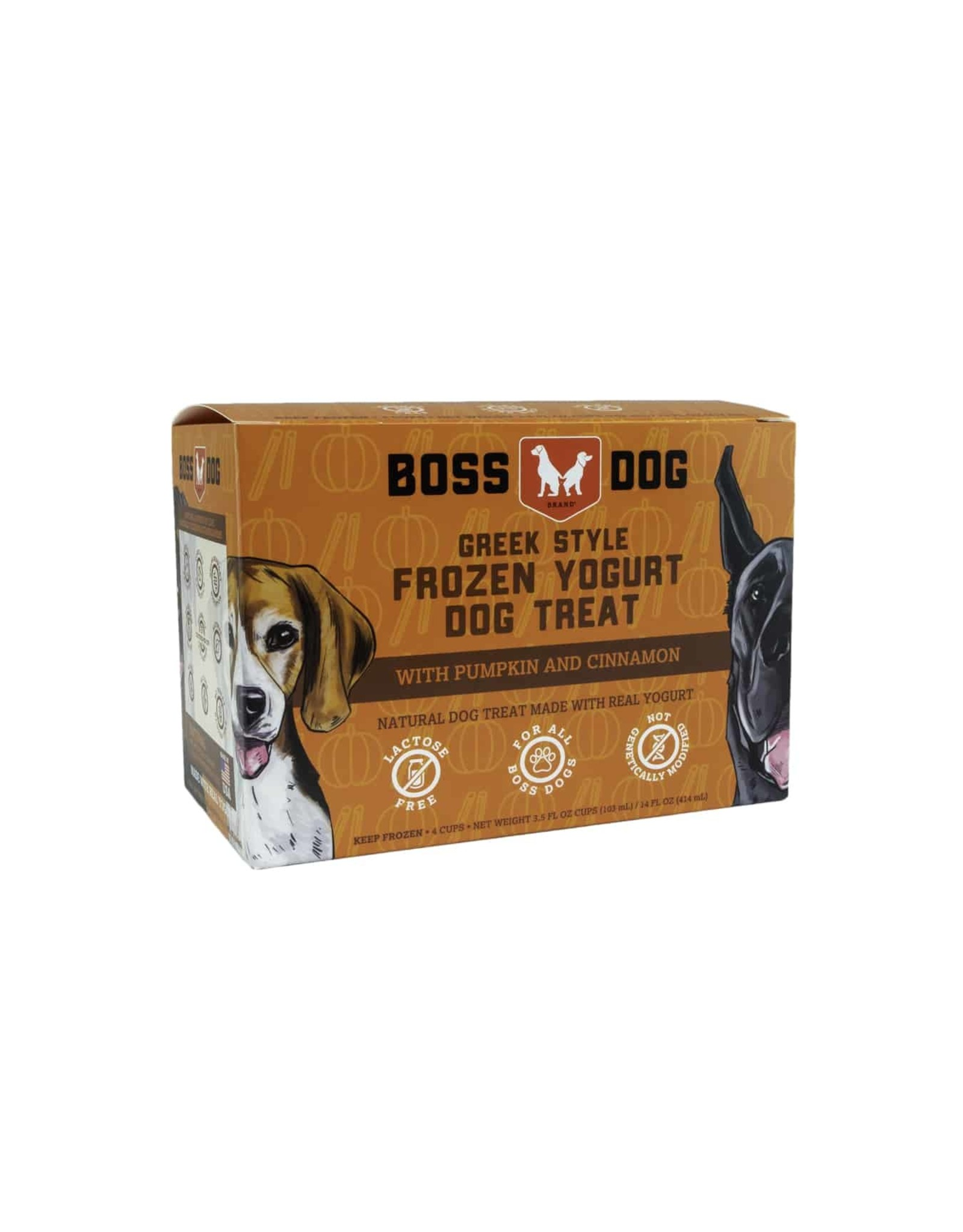 Boss Dog Boss Dog - 4 PACK - Frozen Yogurt - Pumpkin & Cinnamon 3.5oz