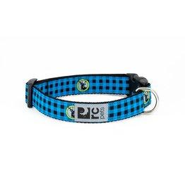 RC PETS RC Pets - Clip Collar M - Blue Buffalo Plaid