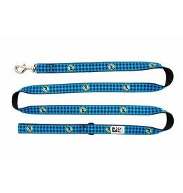 RC PETS RC Pets - Leash 3/4x6 - Blue Buffalo Plaid