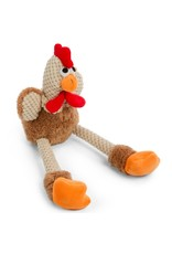 GoDog GODOG Checkered Skinny Brown Rooster Small