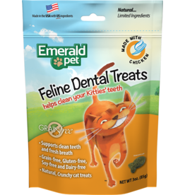 SMART N' TASTY EmeraldPet Chicken Dental Treats for Cats 85g