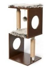 "BUDZ BUDZ Cat Tree Cube Design Wood 34"""