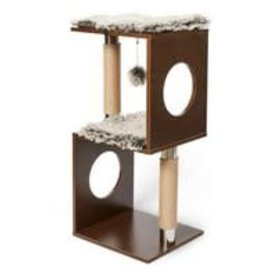 BUDZ BUDZ Cat Tree Cube Design Wood 34""