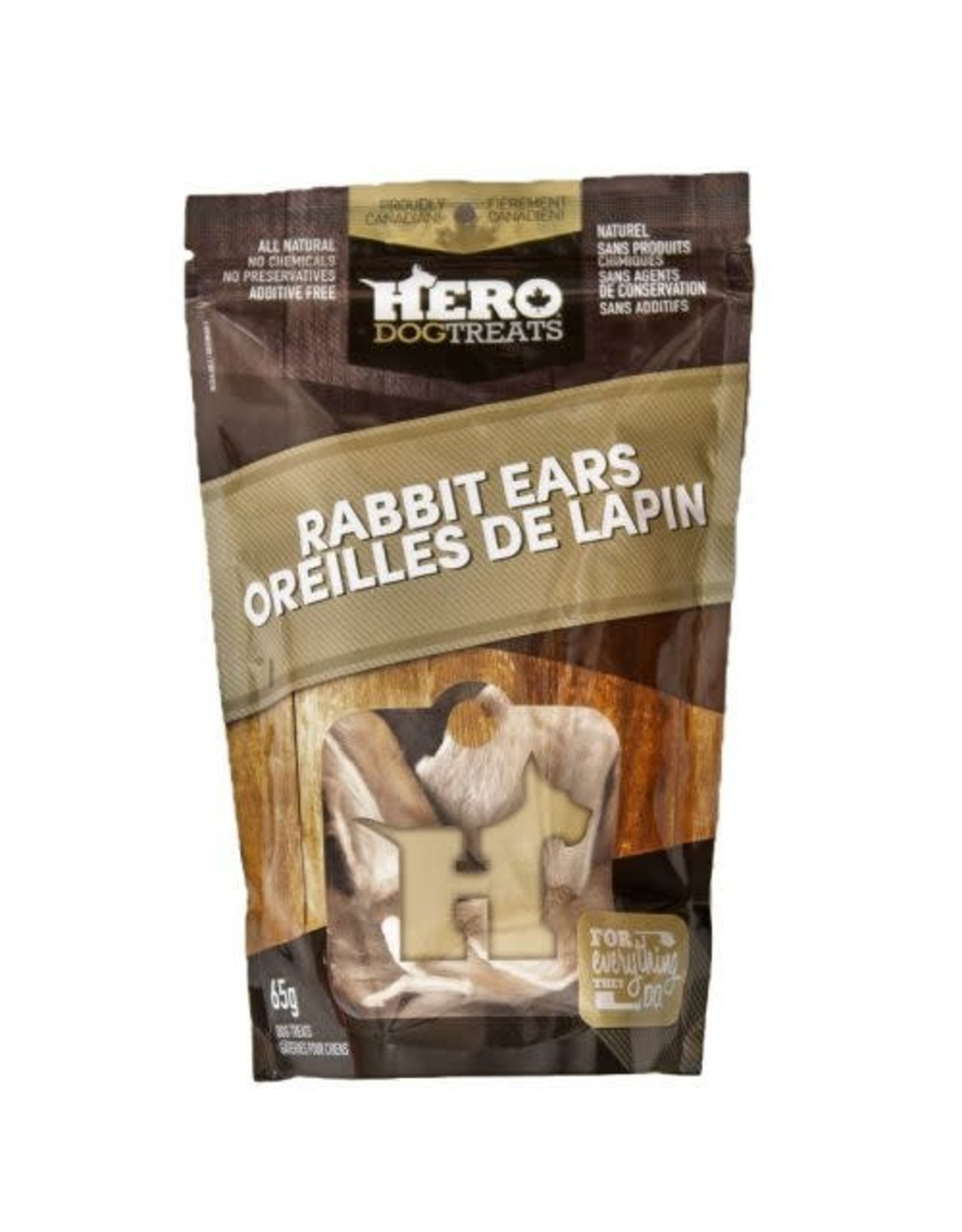 HERO HERO Dehydrated Rabbit Ears 65g
