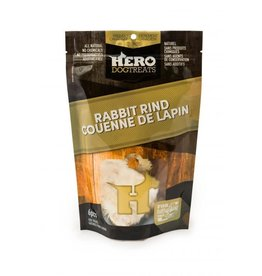 HERO HERO HERO Dehydrated Rabbit Rind 6pcs