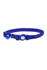 """Coastal Coastal Cat Breakaway w. Jewel & Glitter Collar - 8-12"""" Blue"""