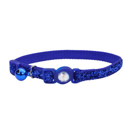 "Coastal Coastal Cat Breakaway w. Jewel & Glitter Collar - 8-12"" Blue"