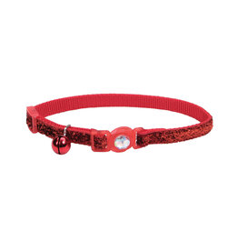 "Coastal Coastal Cat Breakaway w. Jewel & Glitter Collar - 8-12"" Red"