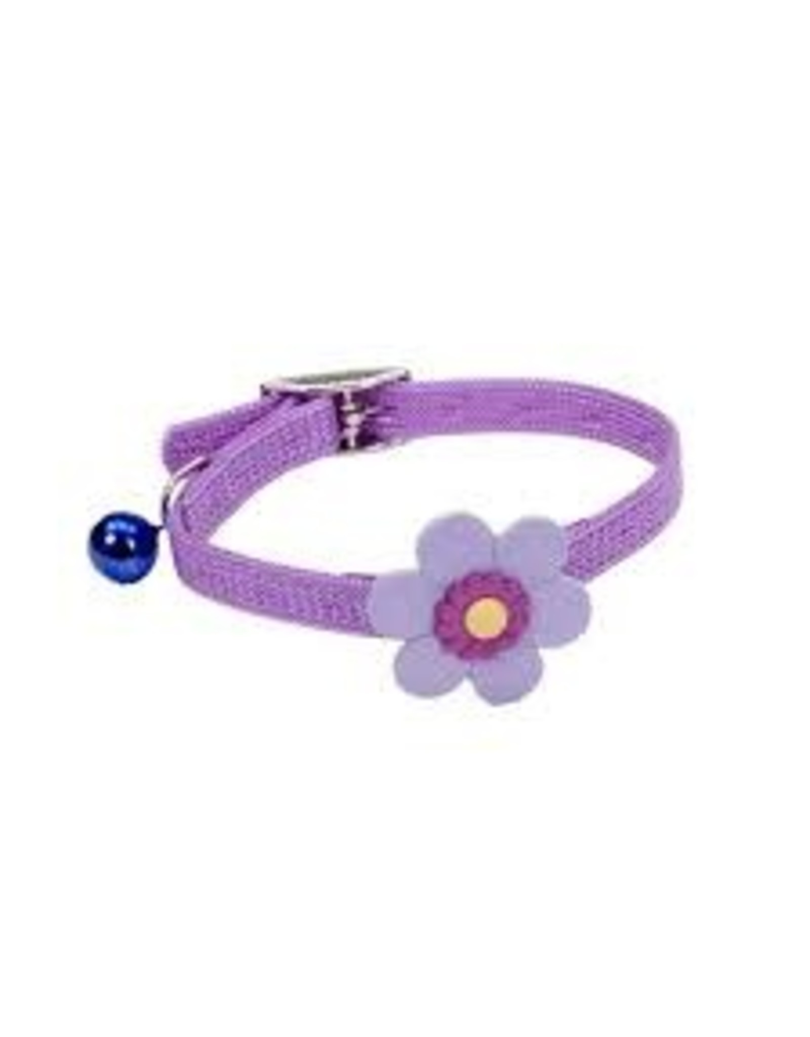 "Coastal Coastal Cat Decorative Safety Collar - 10"" Daisy Lilac"