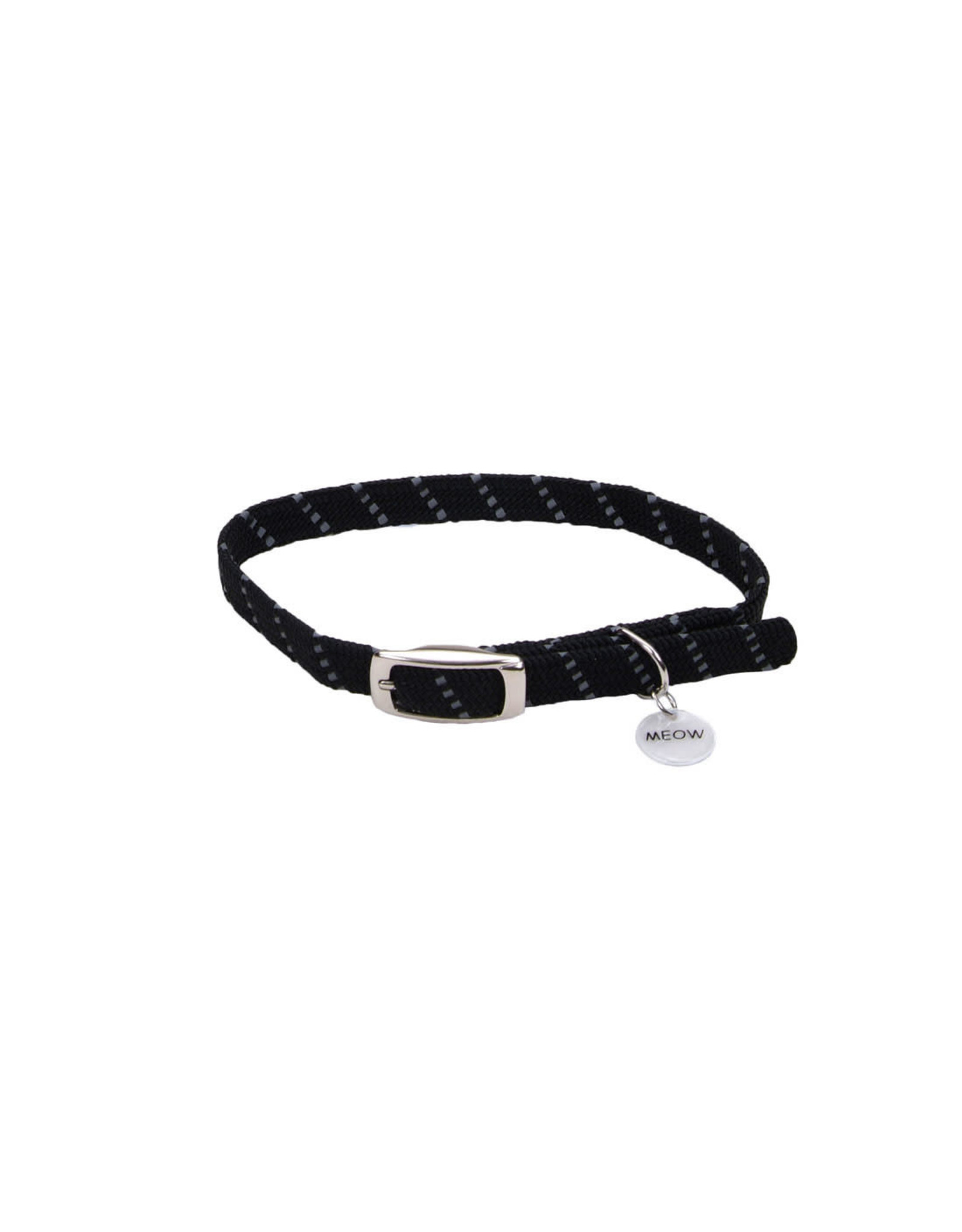 "Coastal Coastal Elasta Cat Reflective/Stretch Collar - 10 "" Black"