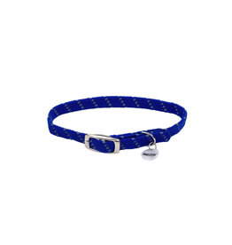 "Coastal Coastal Elasta Cat Reflective/Stretch Collar - 10 "" Blue"