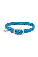 "Coastal Coastal Elasta Cat Reflective/Stretch Collar - 10 "" Blue & Black"