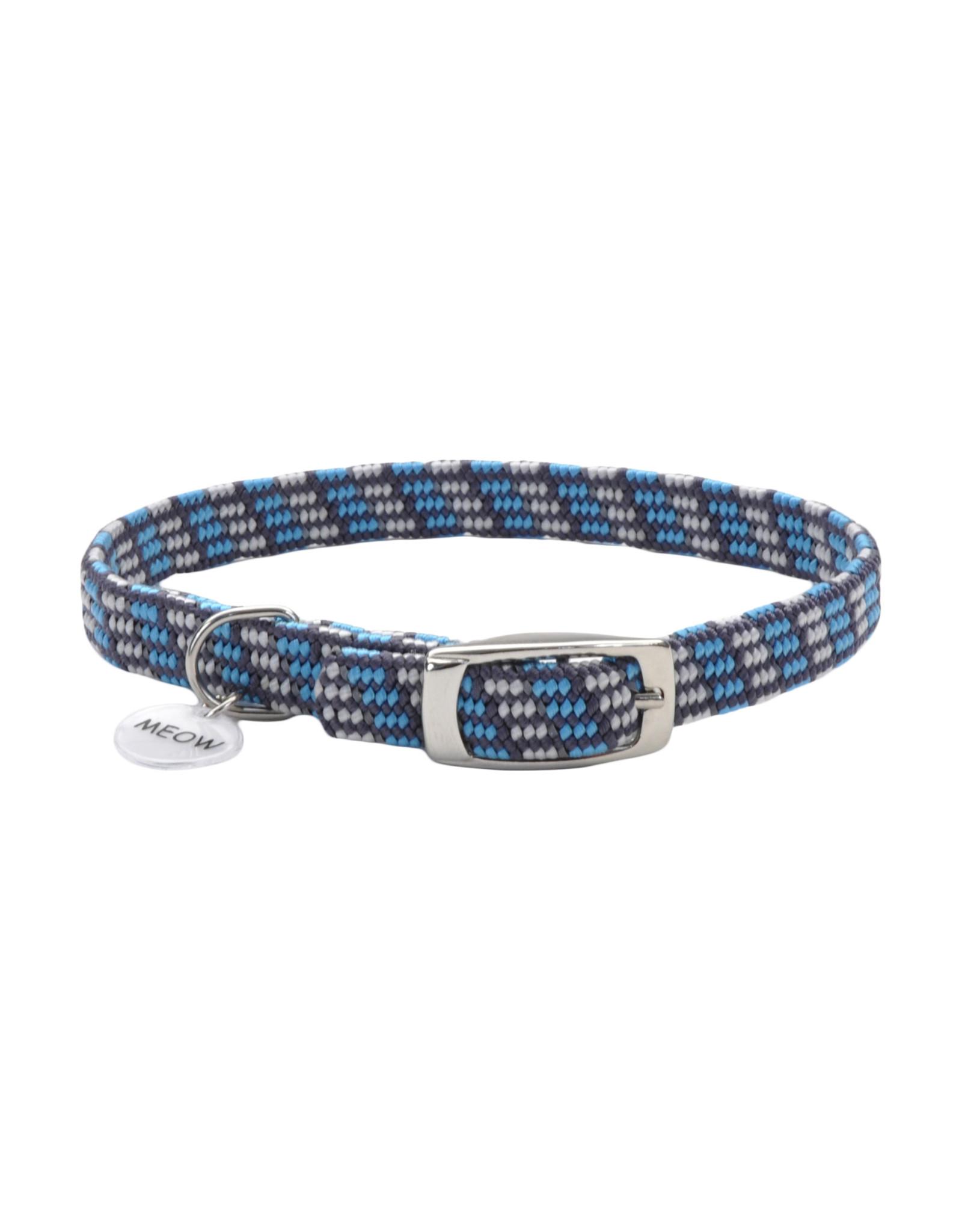 "Coastal Coastal Elasta Cat Reflective/Stretch Collar - 10 "" Grey & Blue"