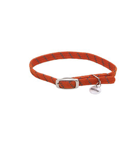 "Coastal Coastal Elasta Cat Reflective/Stretch Collar - 10 "" Orange"
