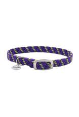 "Coastal Coastal Elasta Cat Reflective/Stretch Collar - 10 "" Purple"