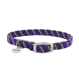 "Coastal Coastal Elasta Cat Reflective/Stretch Collar - 10 "" Purple"