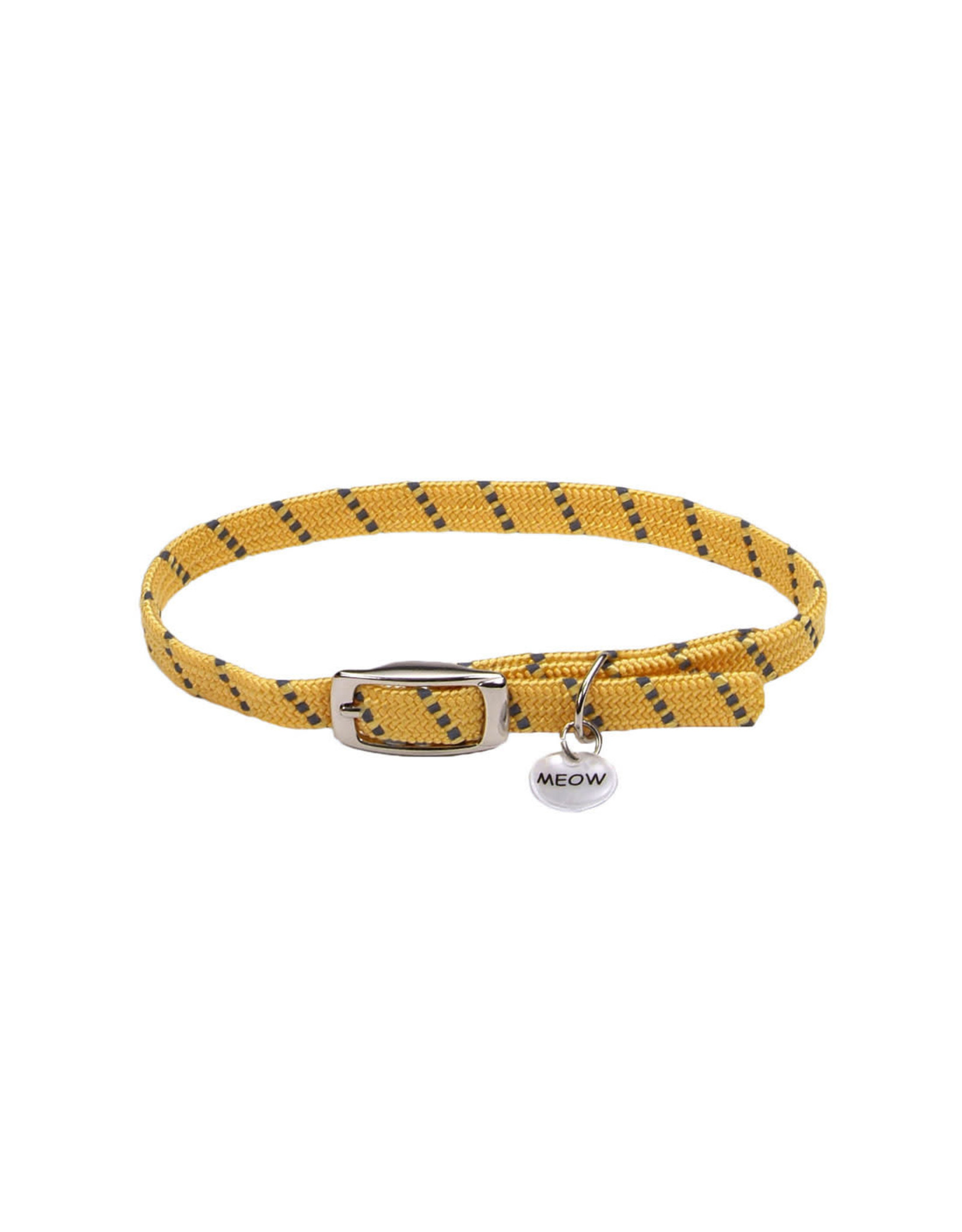"Coastal Coastal Elasta Cat Reflective/Stretch Collar - 10 "" Yellow"