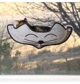 K&H K&H EZ Mount - Kittyface Window Bed Gray